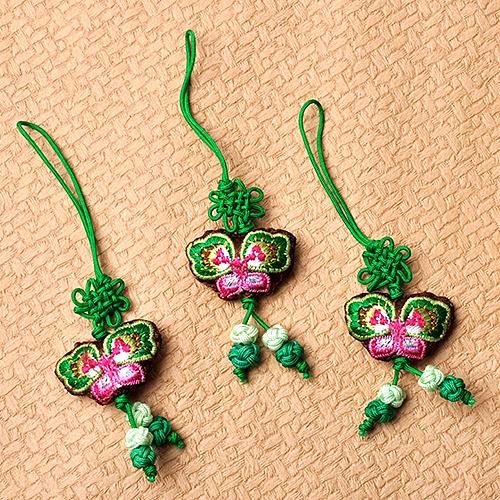 전통나비 매듭줄_ 초록