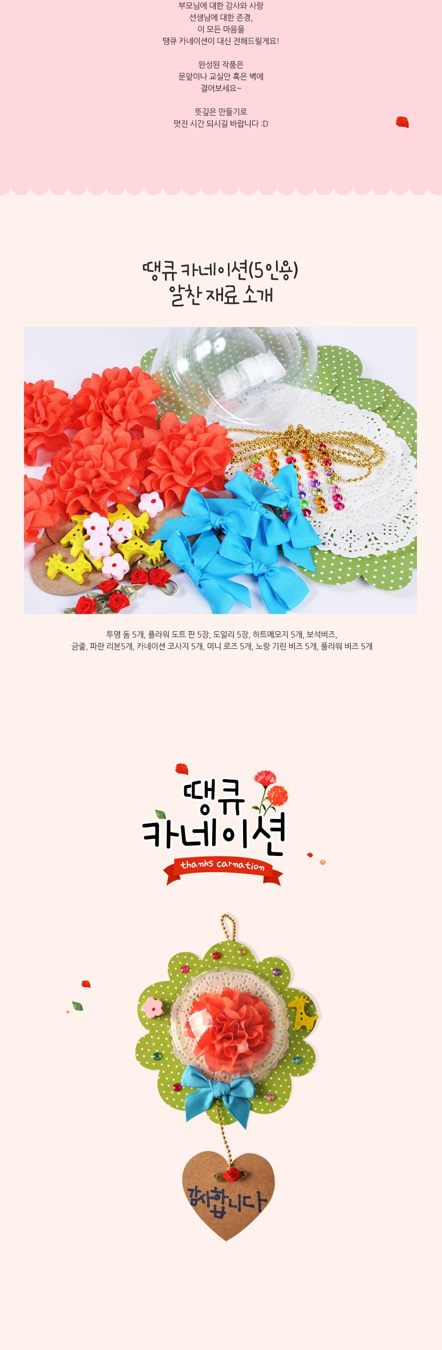 땡큐 카네이션 (5인용) DIY/만들기 - 아트랄라, 10,900원, 조화, 카네이션(조화)